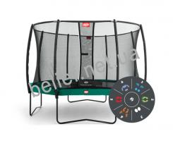 Комплект Батут Berg Elite+ Tatoo 430 cm Green с защитной сеткой T-series