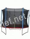 Батут HouseFit HSF 8FT d=2,5м с сеткой и лестницей