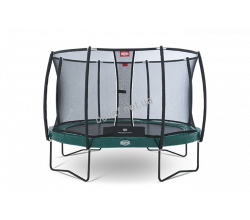 Комплект Батут Berg Elite+ Tatoo 430 cm Green с защитной сеткой T-series 6