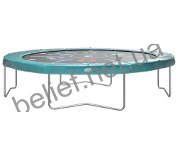 Комплект Батут Berg Elite+ Tatoo 430 cm Green с защитной сеткой T-series 2