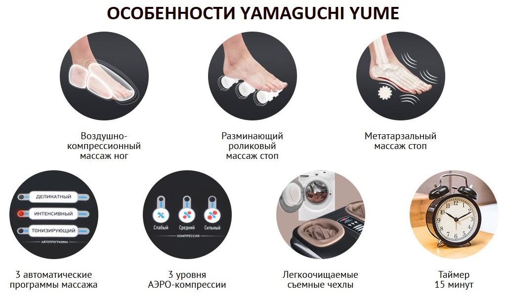Массажер для ног Yamaguchi YUME-10